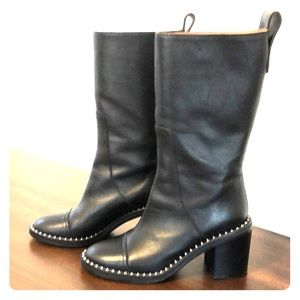 Zadig and Voltaire Black Tall Crome Boots